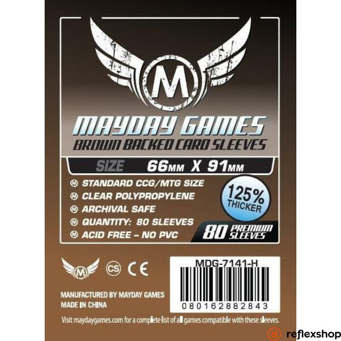 Mayday Games Kártyavédő kártyajátékokhoz (80 db-os csomag) 63.5 x 88 mm (több színben)