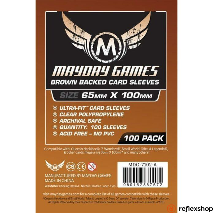 Mayday Games Magnum Copper kártyavédő: 65 x 100 mm