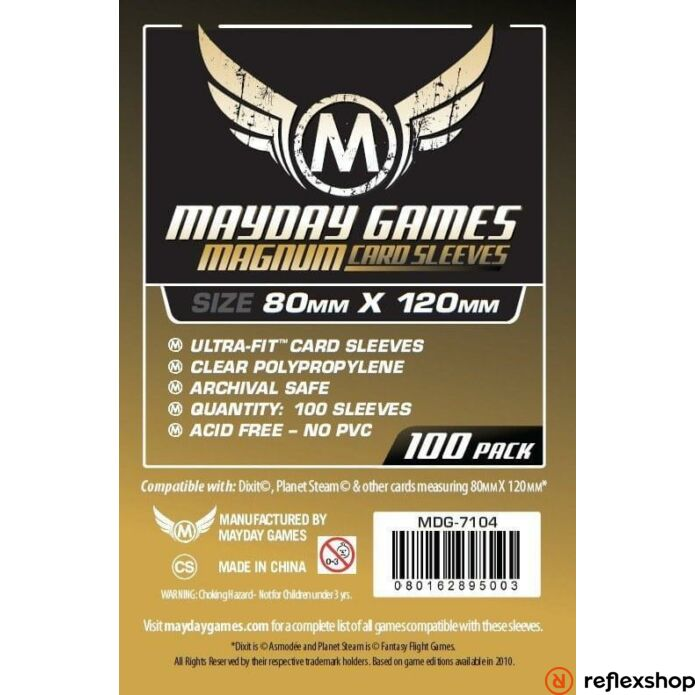 Mayday Games Magnum Gold kártyavédő 80 x 120 mm