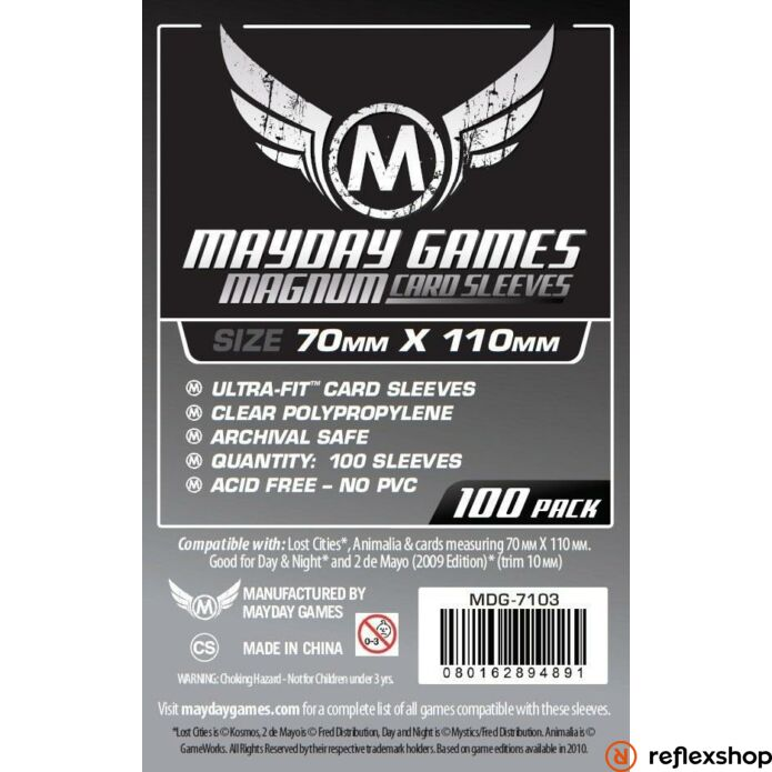 Mayday Games Magnum Silver kártyavédő: 70 x 110 mm