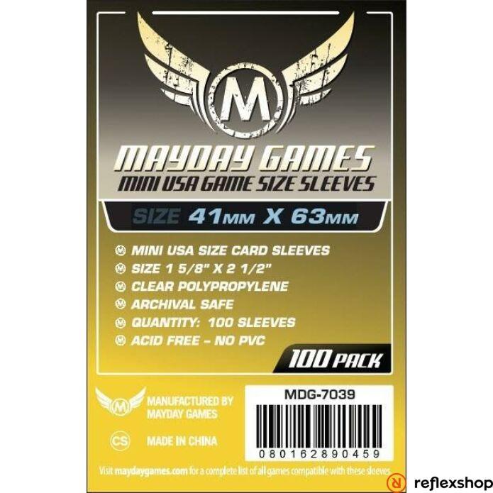 Mayday Games Mini USA méretű kártyavédő 41 x 63 mm (100 db-os csomag)