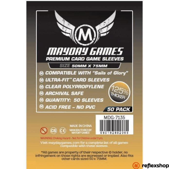 """Mayday Games Prémium Egyedi """"Sails of Glory"""" kártyavédő 50 x 75 mm (50 db-os csomag)"""