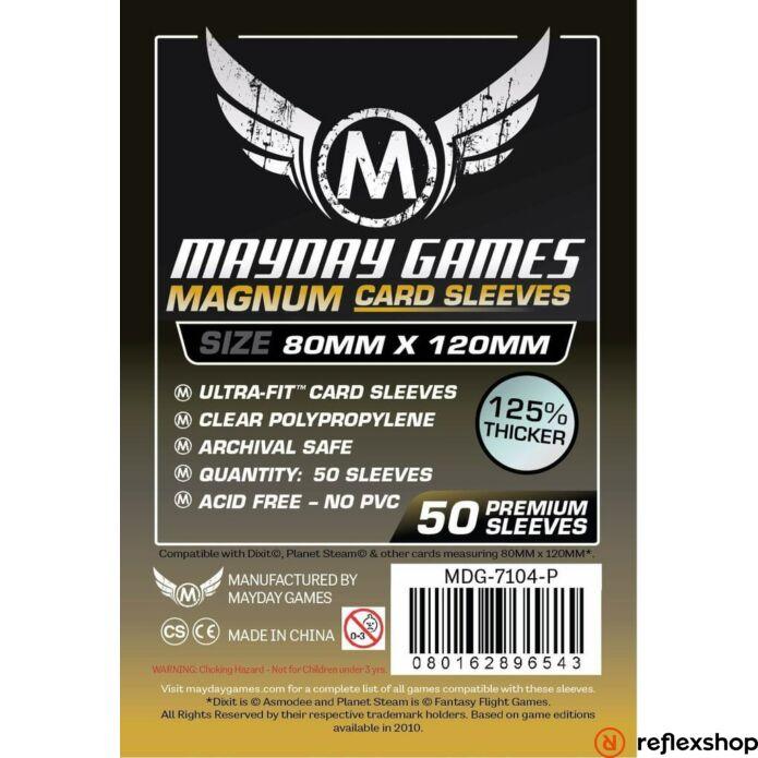 Mayday Games Premium Magnum Gold kártyavédő 80 x 120 mm