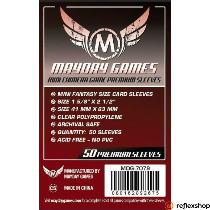 Mayday Games Premium Mini Chimera kártyavédő 43 x 65 mm (50 db-os csomag)