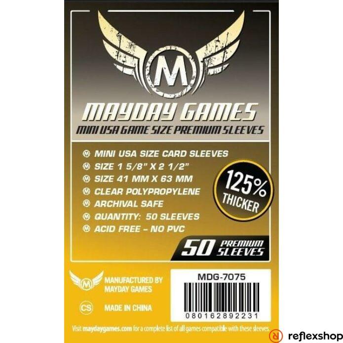 Mayday Games Premium Mini USA kártyavédő 41 x 63 mm (50 db-os csomag)