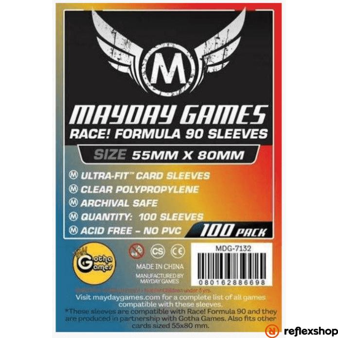 Mayday Games kártyavédő Race! Formula 90 játékhoz, 55 x 80 mm (100 db-os csomag)