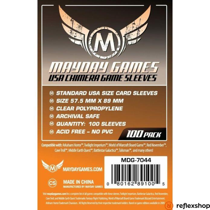 Mayday Games USA Chimera méretű kártyavédő 57.5 X 89 mm (100 db-os csomag)