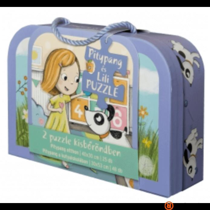 Pitypang és Lili bőröndös puzzle
