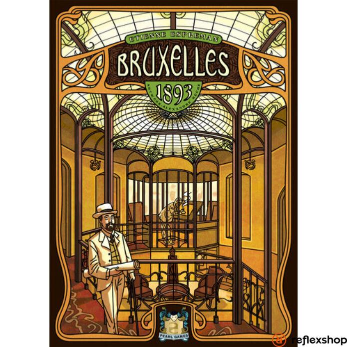 Bruxelles 1893 angol nyelvű társasjáték
