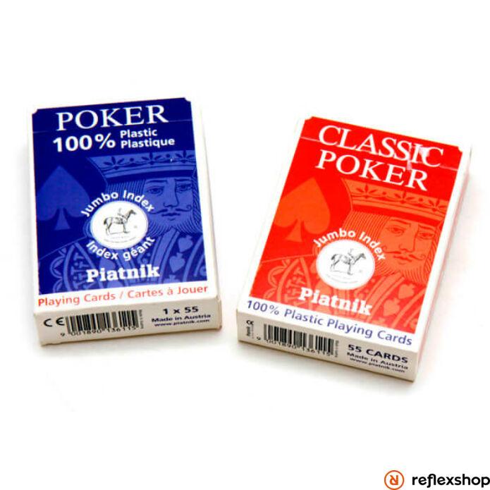Piatnik plasztik póker kártya lap nagy index