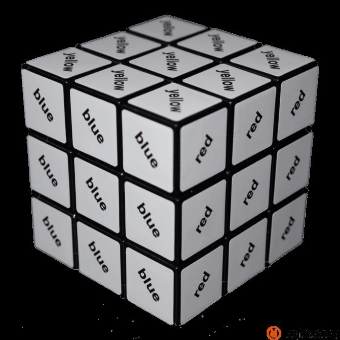 Rubik 3x3 szövegkocka fekete