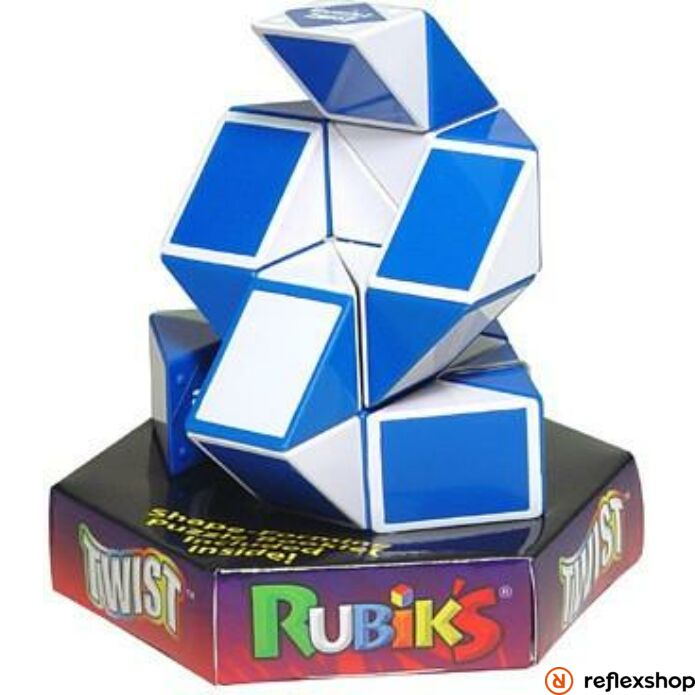 Rubik Twist logikai játék kék-fehér