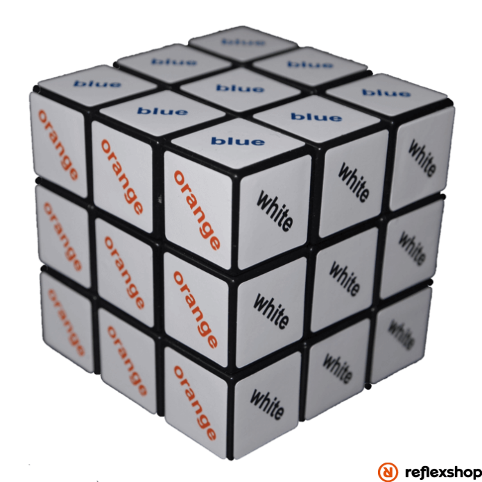 Rubik 3x3 szövegkocka színes