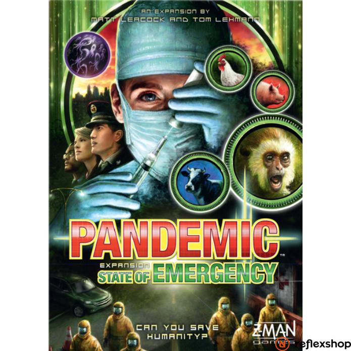 Pandemic társasjáték State of Emergency kiegészítő, angol