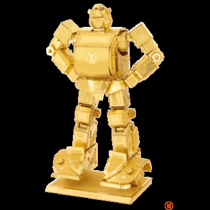 Metal Earth Transformers Bumblebee arany - lézervágott acél makettező szett