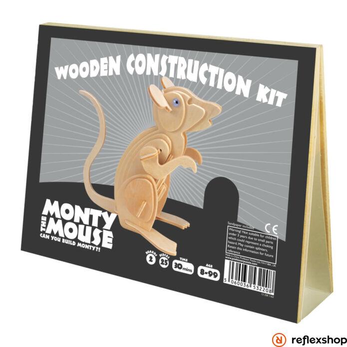 Monty Egér Professor Puzzle fa épít? szett