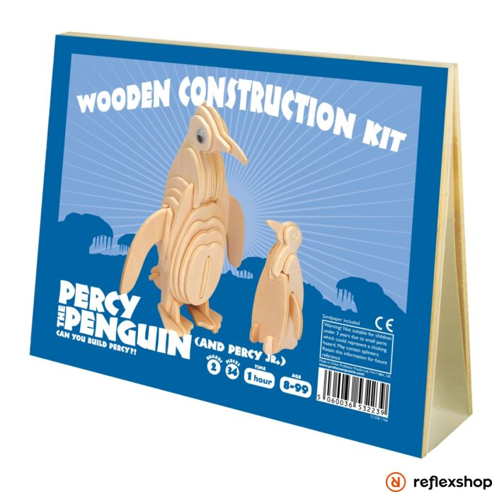 Percy Pingvin Professor Puzzle fa épít? szett