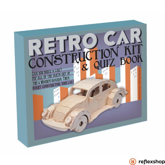 Veterán autó Professor Puzzle fa építő szett