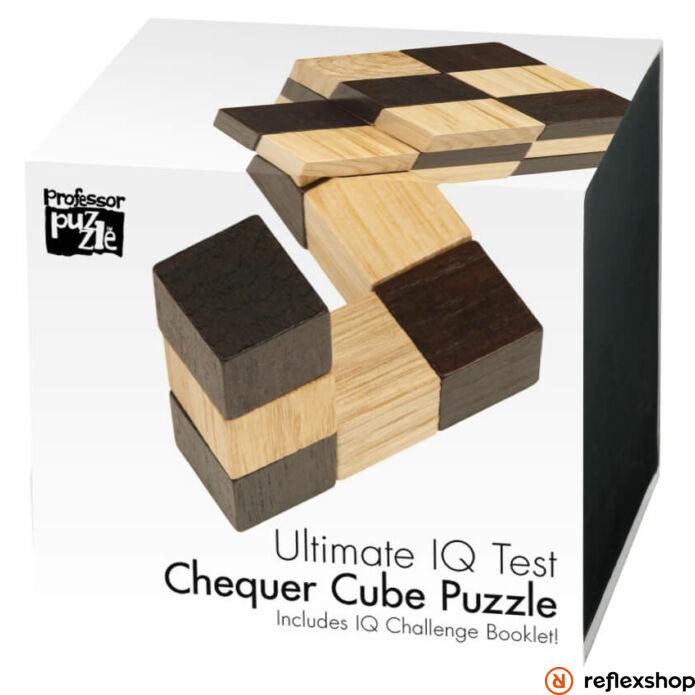 Chequer Cube Professor Puzzle fa logikai játék