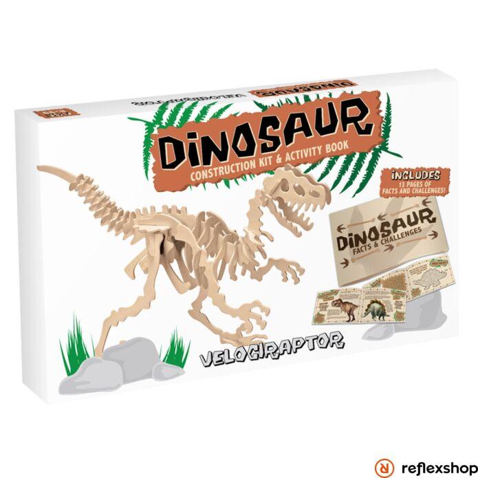 Velociraptor Professor Puzzle fa épít? szett nagy