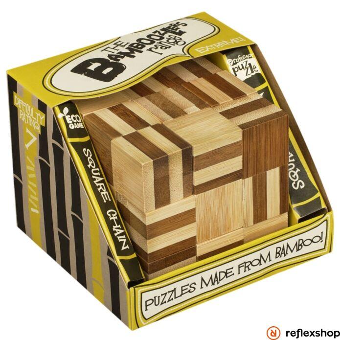 Square Chain Professor Puzzle bambusz ördöglakat