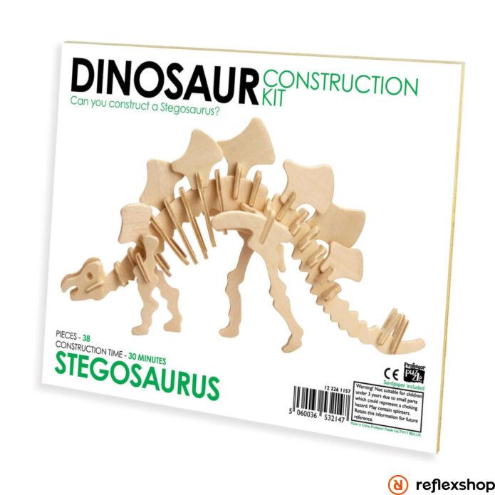 Stegosaurus Professor Puzzle fa épít? szett standard