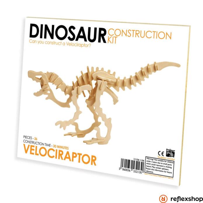 Velociraptor Professor Puzzle fa épít? szett standard