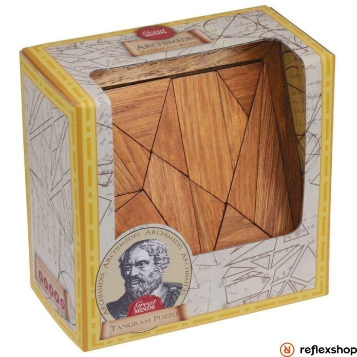 Nagy Elmék - Arkhimédész Tangram Professor Puzzle ördöglakat