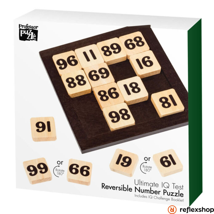Reversible Number Puzzle Professor Puzzle fa logikai játék