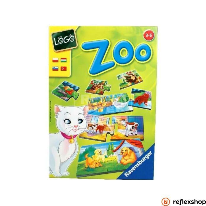 Ravensburger Logo Zoo Állatok és kölykeik társasjáték