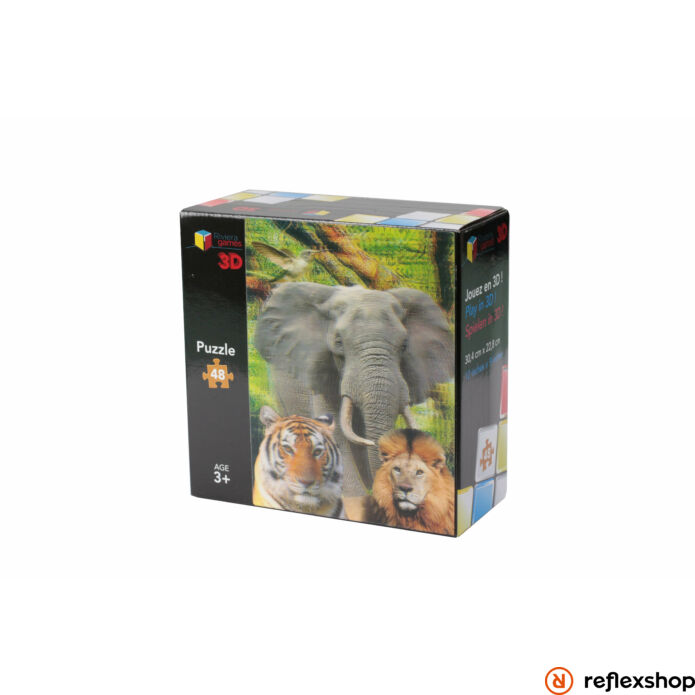 Puzzle 3D - 48 pieces - The Animals