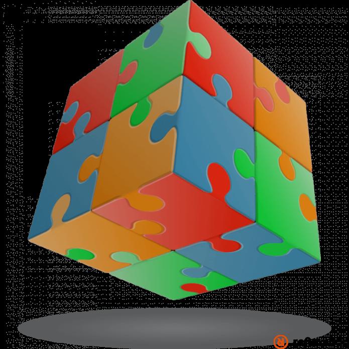 V-Cube 2x2 versenykocka Puzzle