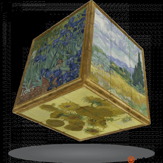V-Cube 3x3 versenykocka Van Gogh