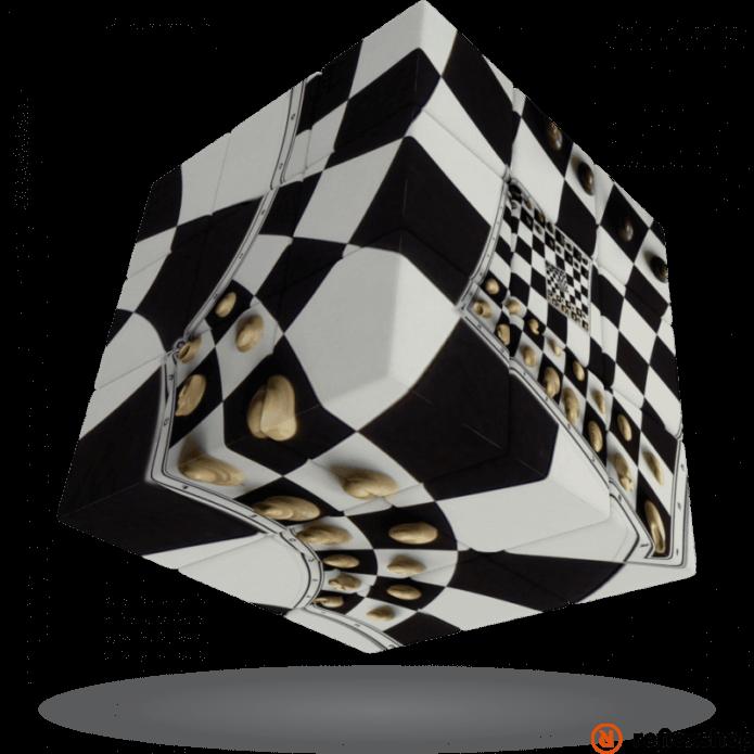 V-Cube 3x3 versenykocka Sakktábla illúzió